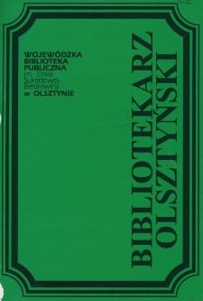 Bibliotekarz Olsztyński, 1995, nr 1-2