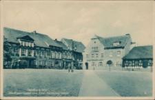 Sensburg Ostpr., Stadtsparkasse und Hotel Deutsches Haus