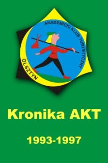 Kronika Akademickiego Klubu Turystycznego przy Akademii Rolniczo-Technicznej w Olsztynie z lat 1993-1997