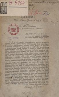 O łacinie Mikołaja Kopernika
