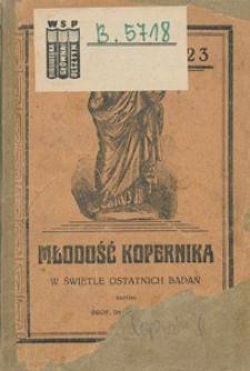 Młodość Kopernika w świetle ostatnich badań
