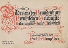 Bilder aus der Brandenburg-Preussischen Geschichte