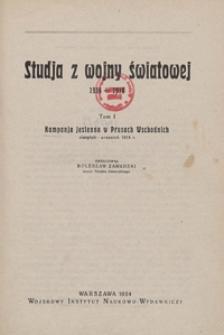 Kampanja jesienna w Prusach Wschodnich : sierpień - wrzesień 1914 r.