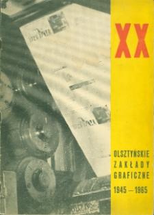 Olsztyńskie Zakłady Graficzne : 1945-1965