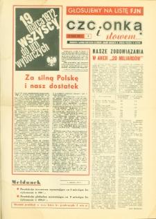 Czcionką i Słowem : jednodniówka samorządu robotniczego Olsztyńskich Zakładów Graficznych im. Seweryna Pieniężnego w Olsztynie, 1972, nr 3