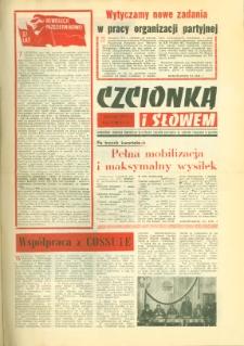 Czcionką i Słowem : jednodniówka samorządu robotniczego Olsztyńskich Zakładów Graficznych im. Seweryna Pieniężnego w Olsztynie, 1974 (R. 4), nr 13