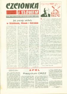 Czcionką i Słowem : kwartalnik samorządu robotniczego Olsztyńskich Zakładów Graficznych im. Seweryna Pieniężnego w Olsztynie, 1976 (R. 6), nr 23