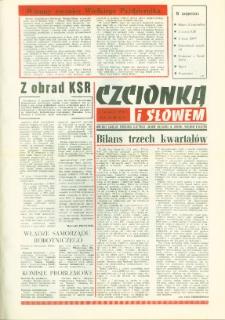 Czcionką i Słowem : kwartalnik samorządu robotniczego Olsztyńskich Zakładów Graficznych im. Seweryna Pieniężnego w Olsztynie, 1978 (R. 8), nr 31