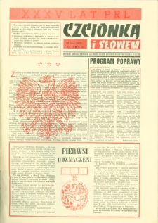 Czcionką i Słowem : kwartalnik samorządu robotniczego Olsztyńskich Zakładów Graficznych im. Seweryna Pieniężnego w Olsztynie, 1979 (R. 9), nr 35