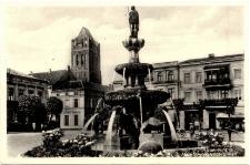 Riesenburg Markt mit Rolandbrunnen