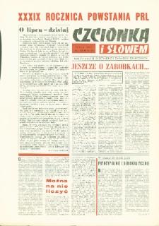 Czcionką i Słowem : gazeta załogi Olsztyńskich Zakładów Graficznych, 1983 (R. 12), nr 44