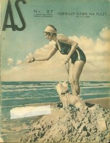 As : ilustrowany magazyn tygodniowy, 1937 (R. 3), nr 27