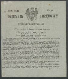 Dziennik Urzędowy Gubernii Warszawskiej, 1845 (R.1), nr 28