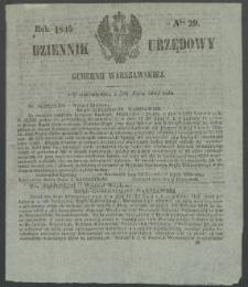 Dziennik Urzędowy Gubernii Warszawskiej, 1845 (R.1), nr 29