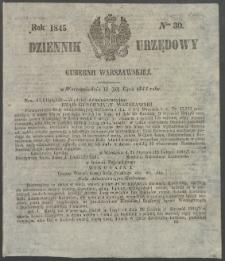 Dziennik Urzędowy Gubernii Warszawskiej, 1845 (R.1), nr 30