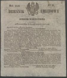 Dziennik Urzędowy Gubernii Warszawskiej, 1845 (R.1), nr 31