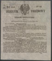 Dziennik Urzędowy Gubernii Warszawskiej, 1845 (R.1), nr 32