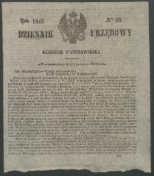 Dziennik Urzędowy Gubernii Warszawskiej, 1845 (R.1), nr 33