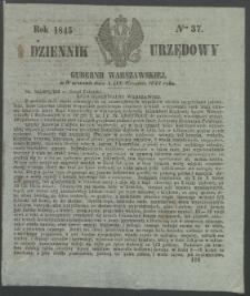 Dziennik Urzędowy Gubernii Warszawskiej, 1845 (R.1), nr 37