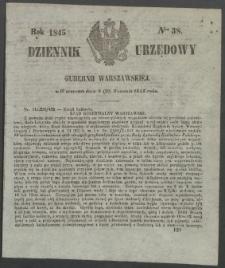 Dziennik Urzędowy Gubernii Warszawskiej, 1845 (R.1), nr 38