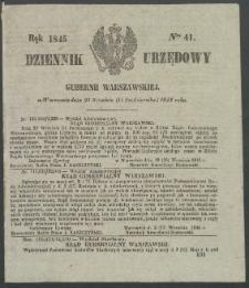 Dziennik Urzędowy Gubernii Warszawskiej, 1845 (R.1), nr 41