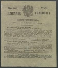 Dziennik Urzędowy Gubernii Warszawskiej, 1845 (R.1), nr 42