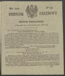 Dziennik Urzędowy Gubernii Warszawskiej, 1845 (R.1), nr 43