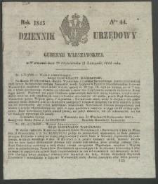 Dziennik Urzędowy Gubernii Warszawskiej, 1845 (R.1), nr 44