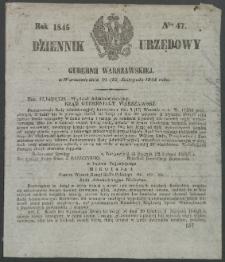 Dziennik Urzędowy Gubernii Warszawskiej, 1845 (R.1), nr 47