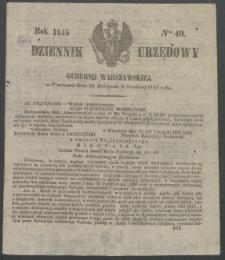 Dziennik Urzędowy Gubernii Warszawskiej, 1845 (R.1), nr 49