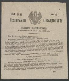 Dziennik Urzędowy Gubernii Warszawskiej, 1845 (R.1), nr 51
