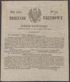Dziennik Urzędowy Gubernii Warszawskiej, 1845 (R.1), nr 52