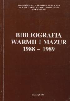 Bibliografia Warmii i Mazur 1988-1989