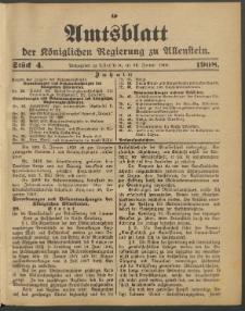 Amtsblatt der Königlichen Regierung zu Allenstein, 1908 Jg. 4, Stück 4