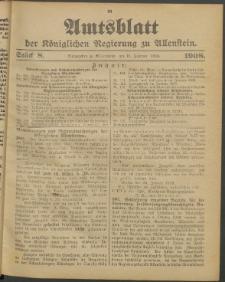 Amtsblatt der Königlichen Regierung zu Allenstein, 1908 Jg. 4, Stück 8