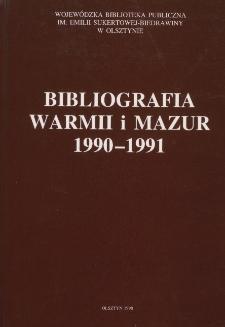 Bibliografia Warmii i Mazur 1990-1991