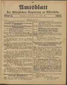 Amtsblatt der Königlichen Regierung zu Allenstein, 1908 Jg. 4, Stück 11