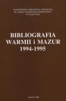 Bibliografia Warmii i Mazur 1994-1995