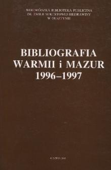 Bibliografia Warmii i Mazur 1996-1997
