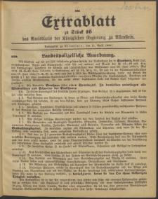 Amtsblatt der Königlichen Regierung zu Allenstein, 1908 Jg. 4, Stück 16 + 2 Extrablatt