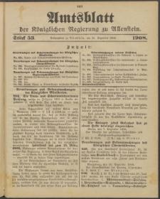 Amtsblatt der Königlichen Regierung zu Allenstein, 1908 Jg. 4, Stück 53