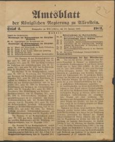 Amtsblatt der Königlichen Regierung zu Allenstein, 1912 Jg. 8, Stück 2