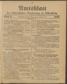 Amtsblatt der Königlichen Regierung zu Allenstein, 1912 Jg. 8, Stück 3