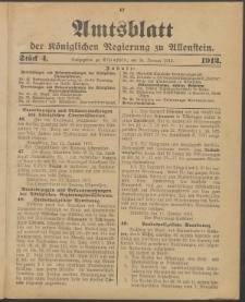 Amtsblatt der Königlichen Regierung zu Allenstein, 1912 Jg. 8, Stück 4