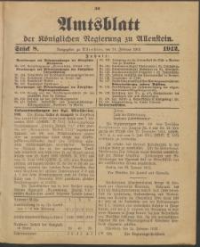 Amtsblatt der Königlichen Regierung zu Allenstein, 1912 Jg. 8, Stück 8 + Sonderbeilage