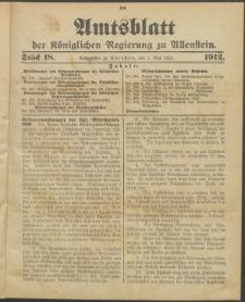 Amtsblatt der Königlichen Regierung zu Allenstein, 1912 Jg. 8, Stück 18 + Sonderbeilage