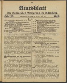 Amtsblatt der Königlichen Regierung zu Allenstein, 1912 Jg. 8, Stück 25