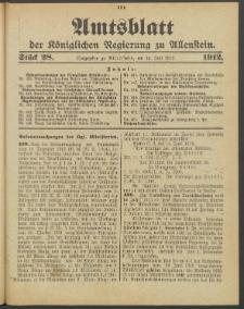 Amtsblatt der Königlichen Regierung zu Allenstein, 1912 Jg. 8, Stück 28