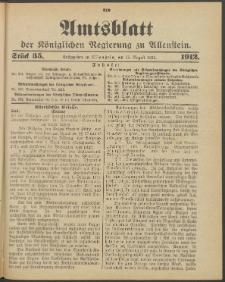 Amtsblatt der Königlichen Regierung zu Allenstein, 1912 Jg. 8, Stück 35