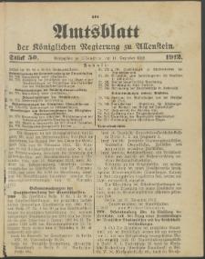 Amtsblatt der Königlichen Regierung zu Allenstein, 1912 Jg. 8, Stück 50 + Sonder-Beilage
